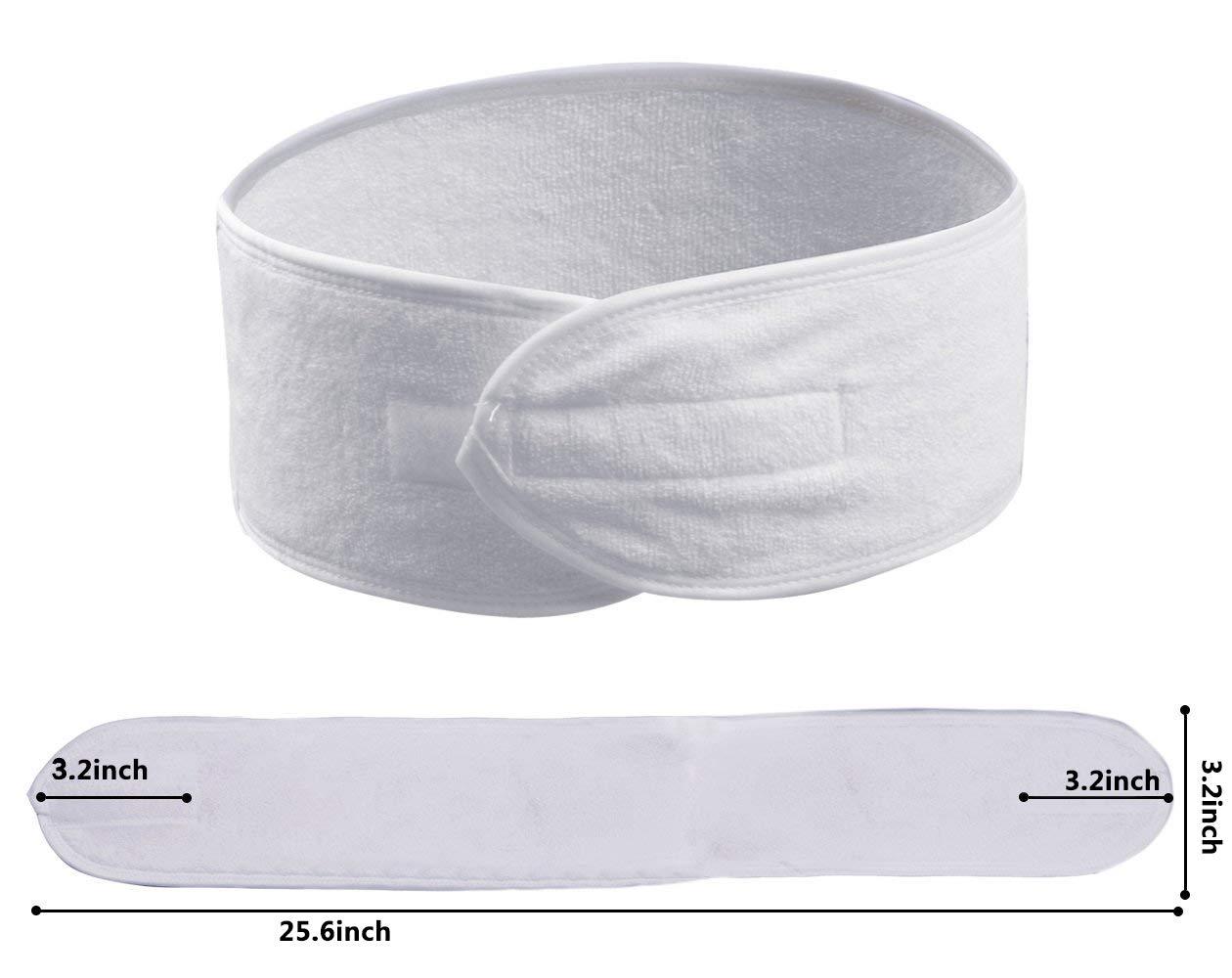 verstellbare Haarschutzband Haarband für Make Up Kosmetik Stirnband Frottee