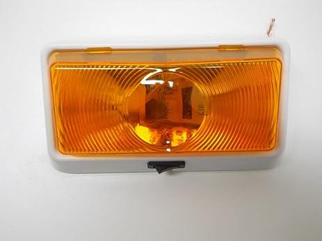 Amazon amber led 12v rv camper trailer porch security light amber led 12v rv camper trailer porch security light angled white base switch aloadofball Choice Image