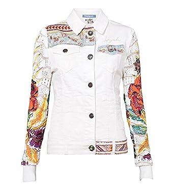 Exotic Fit White Jacket 46 Desigual Slim xxl Veste Blanc Femme qR6n4IWxwC