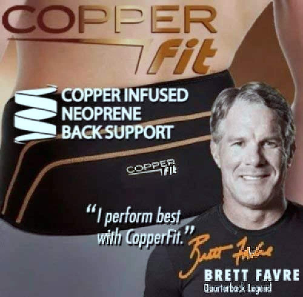 Copper Fit Deluxe Compression Lower Back Support New (Large/XLarge (39''-50'')) by Copper Fit Compression