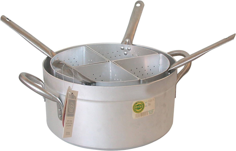 32 cm Grigio PARDINI Casseruola Alluminio Media Quattro Spicchi 1 Pentole Cucina