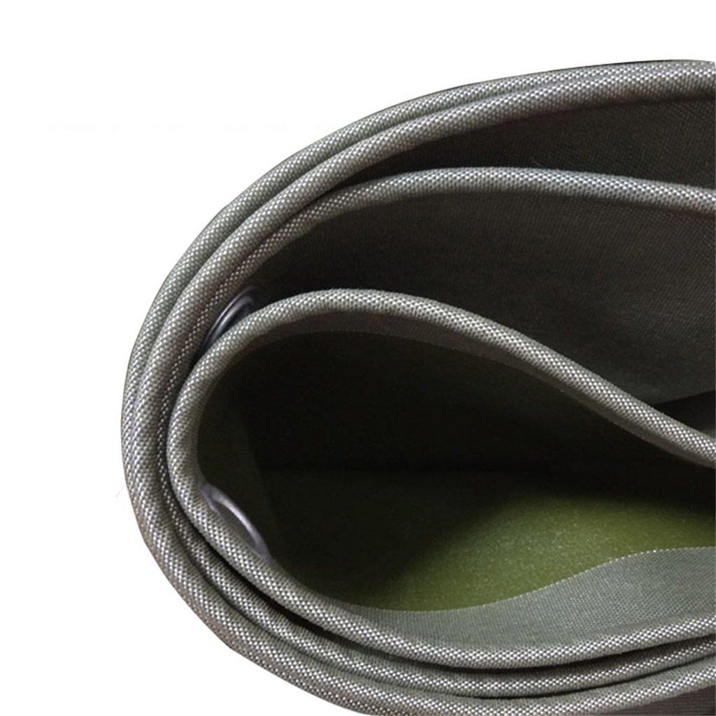 Zelt Zubehör Plane Plane-Regen-Stoff-Schatten-Tuch-Segeltuch-leistungsfähiger wasserdichter Sonneschutz benutzt im Poncho-Familien-kampierenden Garten im Freien Linoleum, Stärke 0.7mm, 650g   m2, Grün