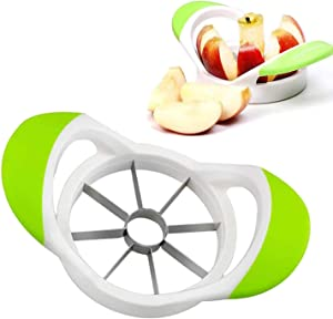 Apple Slicer Professional Stainless Steel Sharp Divider Peeler Edging Machine with 8 Sharp Blades Easy to Carry and Easy to Clean Dishwasher Safe 3.5 Inches (Green)