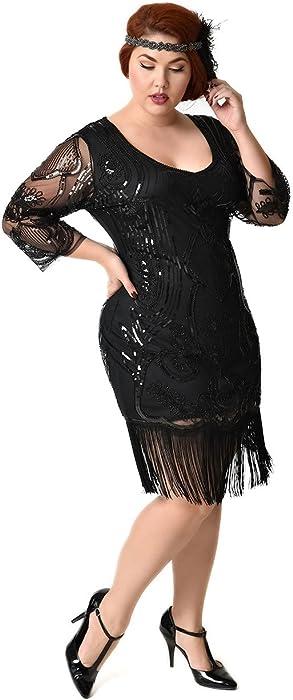 Black Fringe Flapper Dress
