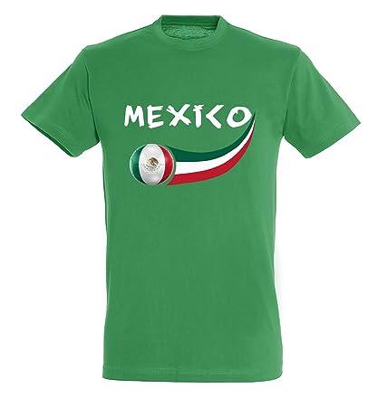 Supportershop – Camiseta México para niño, Verde, FR: 2 x l (Talla Fabricante