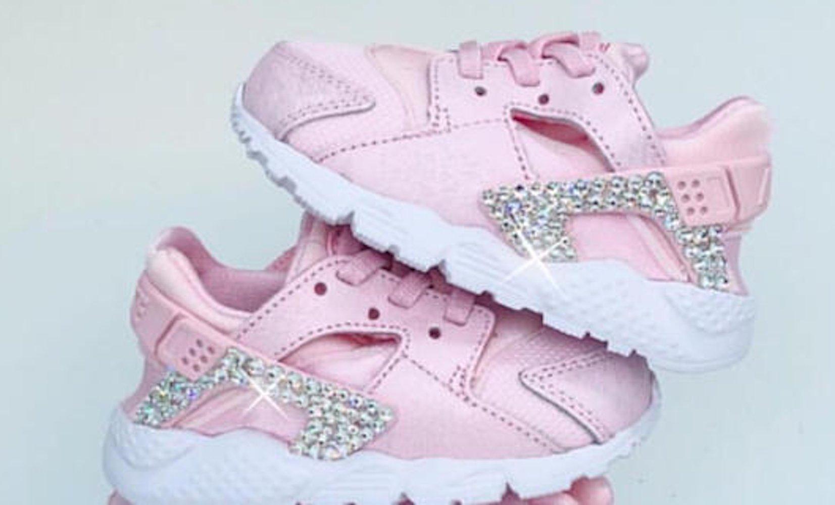 Nike Huarache RUn SE Prism Pink, Baby Huarache, Baby girl Nikes ...