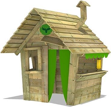 FATMOOSE Casa de juegos de madera HippoHouse Heavy XXL, Parque infantil para el jardín, Casita de exterior para niños: Amazon.es: Bricolaje y herramientas