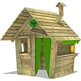 FATMOOSE Casita de juego HippoHouse Heavy XXL Casita para niños jardín Juego infantil con techo de