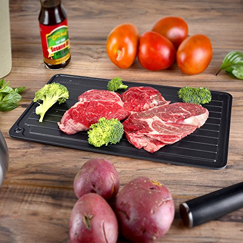 Mat Breast Mega - BOG Creations Fast Thawing Defrost Tray, Natural Eco-Friendly Way to Defrost Frozen Meat/Steak/Chicken or Vegetables Without Microwave, Electricity, Heating Pad, Battery or Chemicals