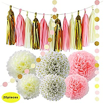 20pcs diy decorations kit for baby shower decoration wedding nursery decorations bridal shower black white