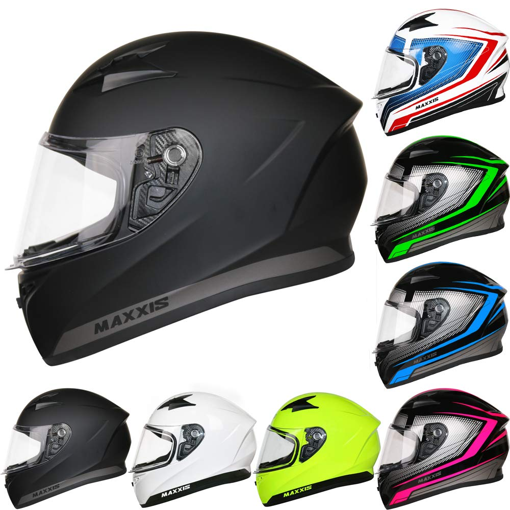 57-58cm Leopard LEO-813 Full Face Motorbike Helmet DOT /& ECE 22.05 Approved #12 Orange//Black//Silver M