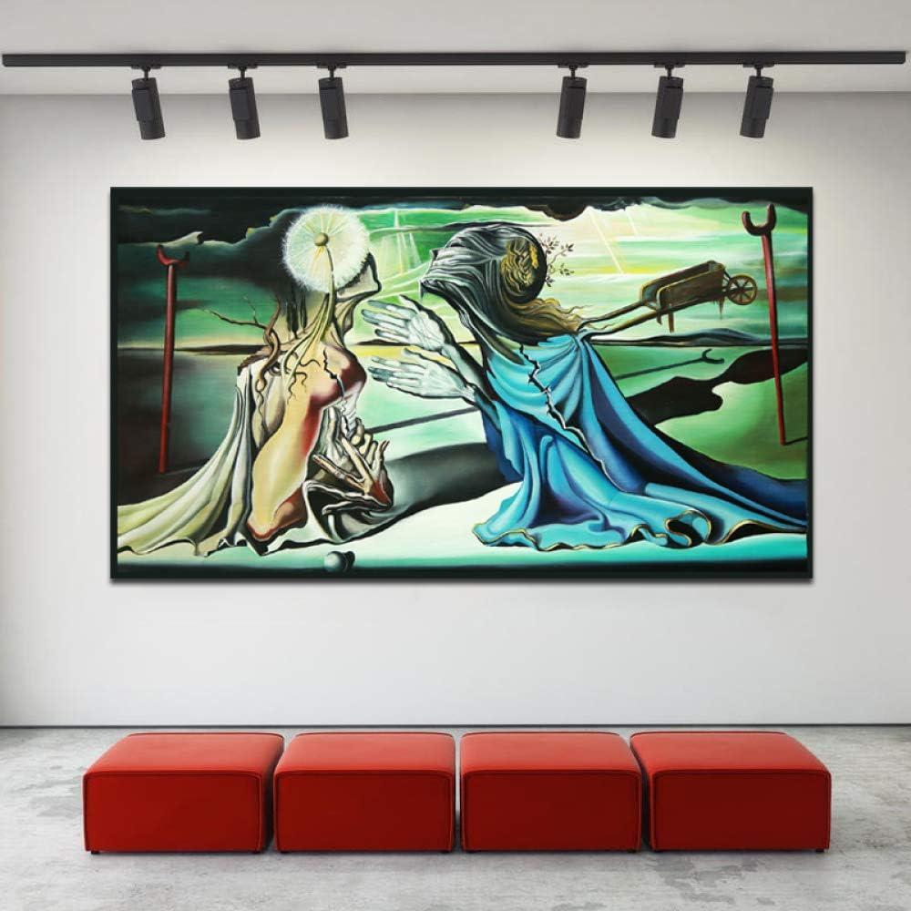 tzxdbh Salvador Dalí DIO un Tristán un insulto Carteles de Lona Impresiones Pintura al óleo Cuadro de Pared para Oficina Dormitorio Decoración para el hogar Accesorios