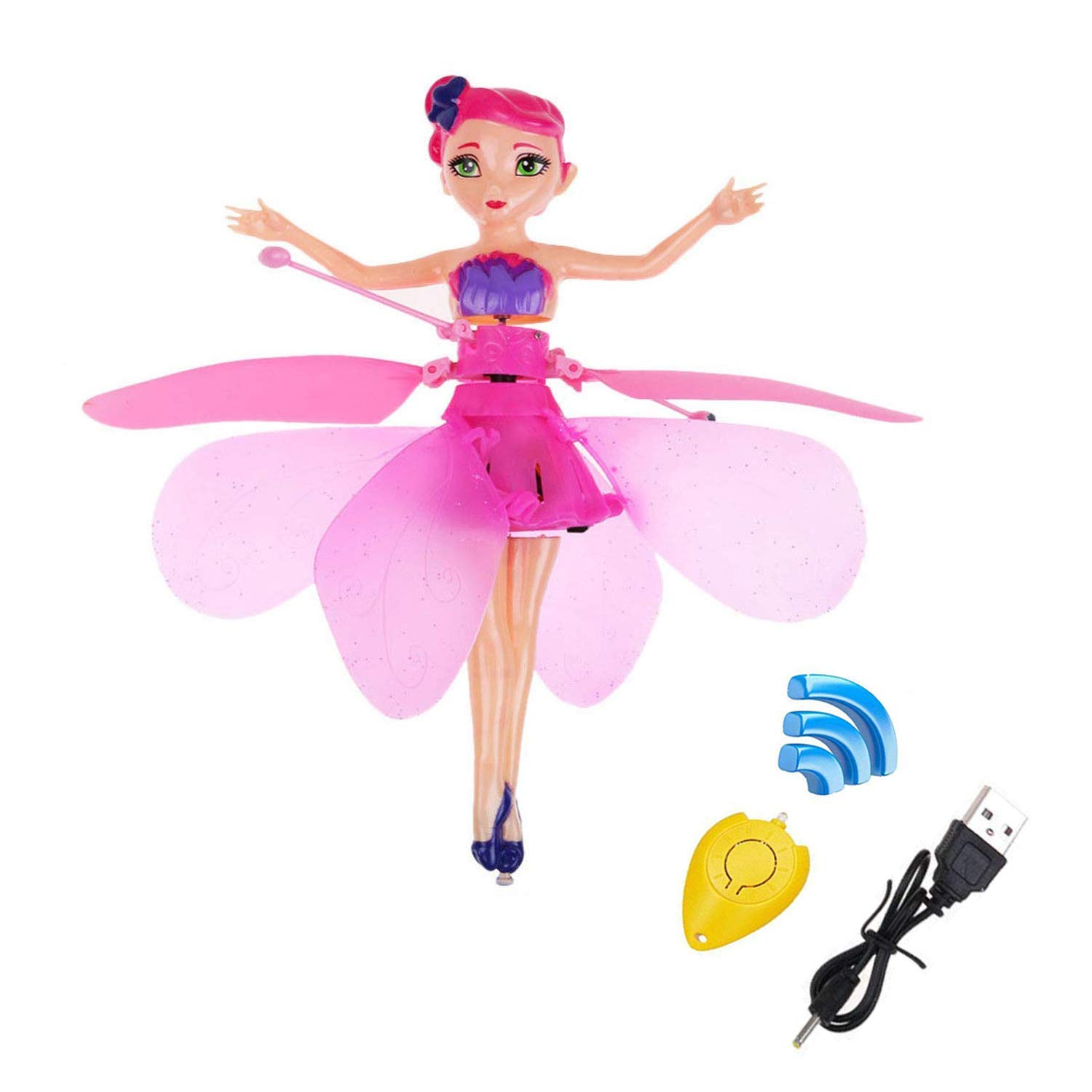 MinaLu Flying Fairy Doll for Girls 6 Years Old,Infrared Induction Teen Toys Flying Princess Doll and Remote Control by MinaLu (Image #1)