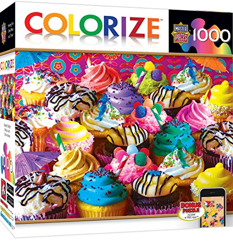 Catch 1000 Piece Puzzle (MasterPieces Colorize Dessert Delight - Colorful Cupcakes 1000 Piece Jigsaw Puzzle)