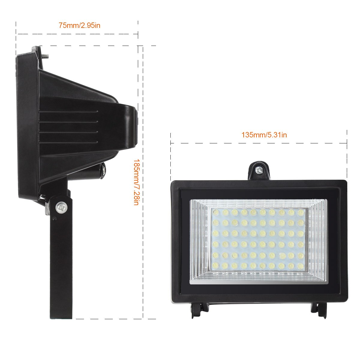 MEIKEE 60 LED Solar Light,LED Outdoor Flood Light, 300