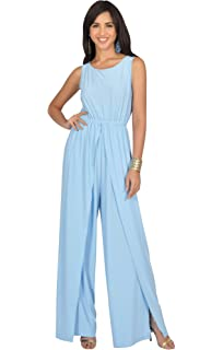 e216f6a0458 KOH KOH Womens Sleeveless Cocktail Wide Leg One Piece Jumpsuit Romper  Playsuit