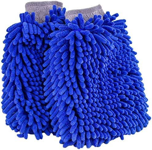 Practical Car Window Washing Cleaning Dusting Microfiber Chenille Mitt Glove N7