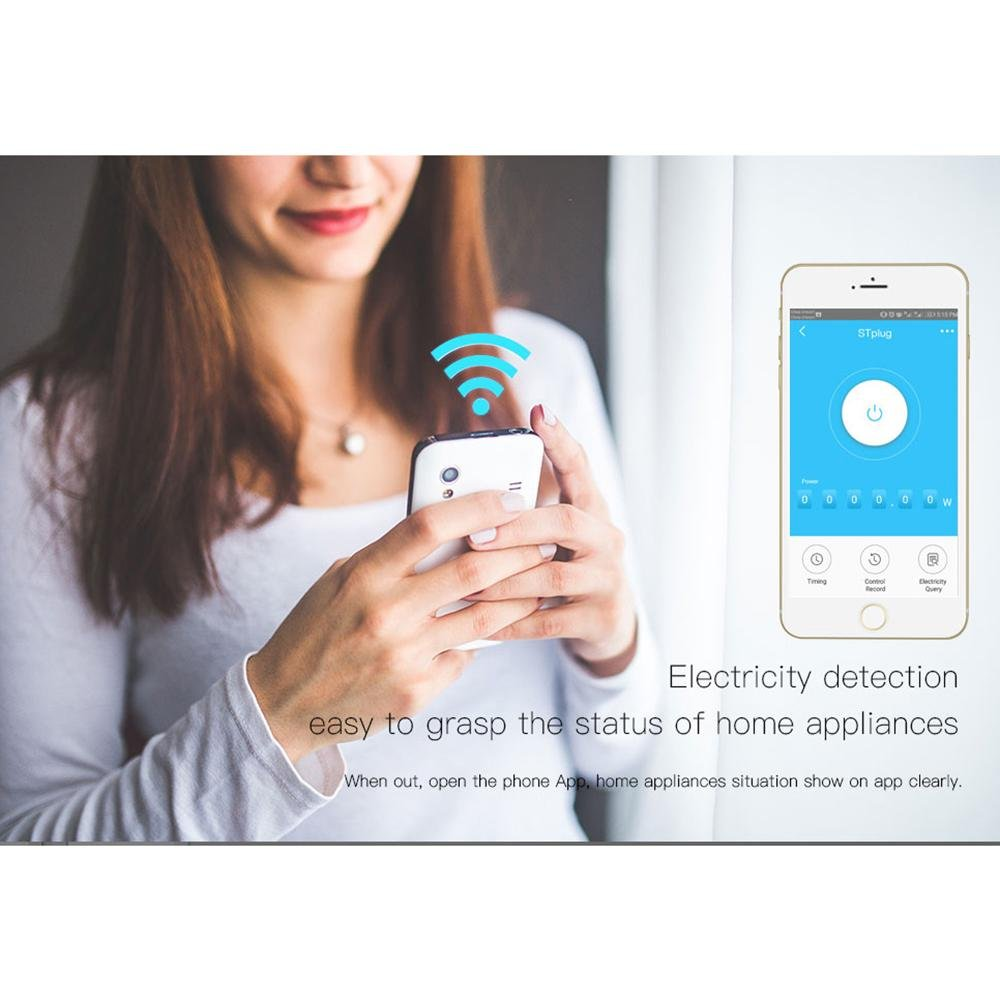 Teepao WiFi Smart Mini Plug IR Control Air Conditioner Works with Alexa and Google Home, Wireless Remote Control Electrical Outlet Switch with Energy Monitoring, Support Voice and Phone App Controlled by Teepao (Image #9)