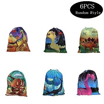 6 piezas Dinosaur Drawstring Pocket,Bolsa de Dinosaurios ...