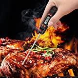 Habor Digital Cooking Thermometer Meat Thermometer with 5.5 Long Probe, Instant Read-out, LCD Screen, Hook, Hang, For Kitchen, Grill, BBQ, Milk, Steak, Bath Water
