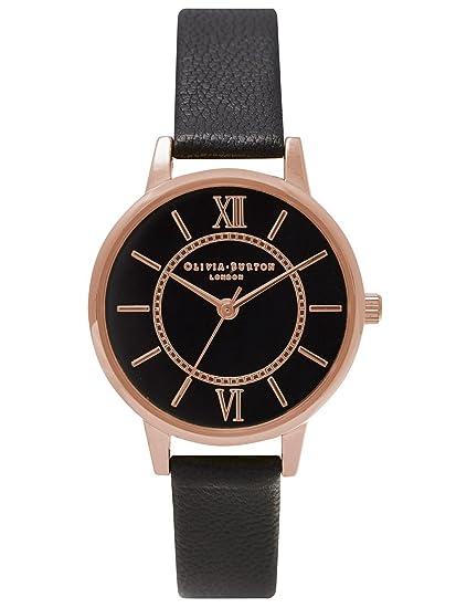 Olivia Burton Wonderland Mujer Reloj Negro ob15wd32