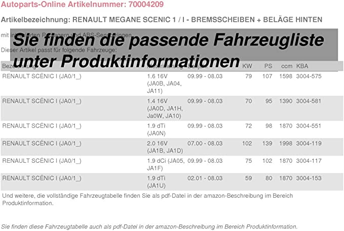Bremsbel/äge hinten NB PARTS GERMANY 10047902 Bremsscheiben