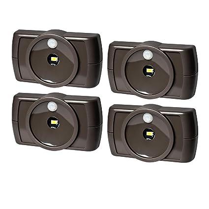 Mr Beams Slim - Pack de 4 luces LED inalámbricas de interiores con funciones de sensor