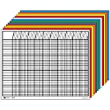 Creative Shapes Etc Large Horizontal Incentive Chart Set, 28 x 22 Inches, Assorted Color, Set of 12
