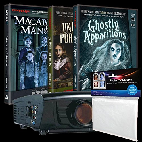 BACK FROM THE GRAVE Digital Galaxy & AtmosFEARfx's Macabre Manor - Unliving Portraits - Ghostly Apparitions DVDs Bundle - Haunted House Video Projection Effects ()