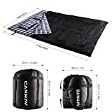 CANWAY Double Sleeping Bag, Flannel Lightweight