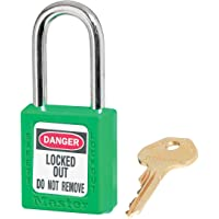 Master Lock 410GRN 410 thermoplastic Safety Padlock, Green, One-Size