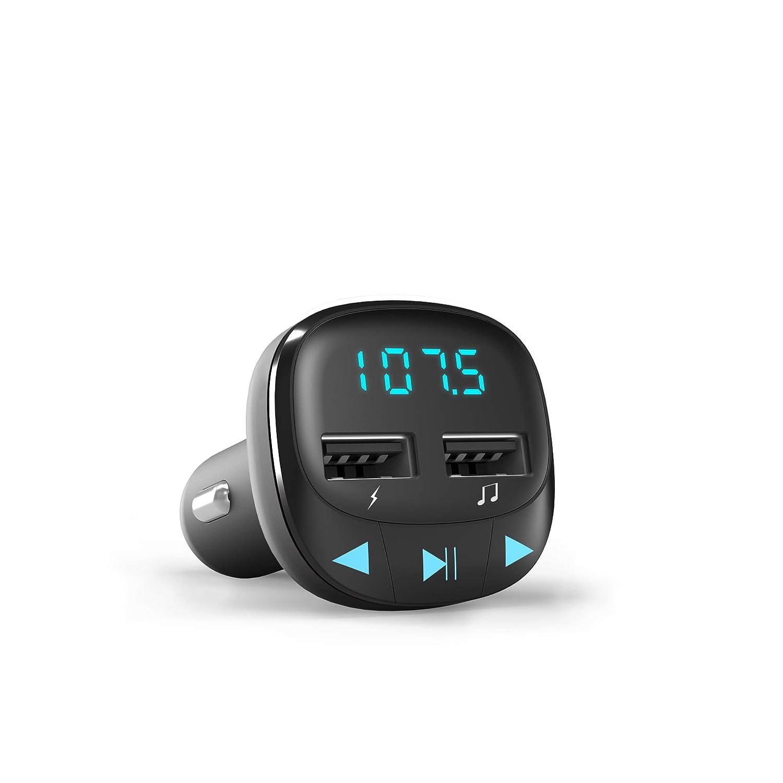 Rojo microSD, Carga USB, USB MP3 Energy Sistem Energy Car FM Transmisor FM para veh/ículos