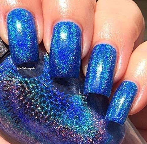 Sapphire Blue Holo Nail Polish