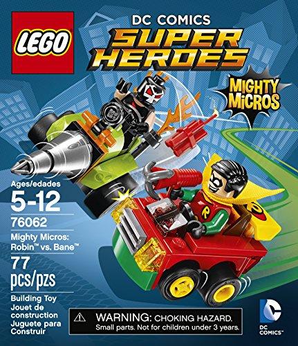 Amazon.com: LEGO DC Comics Super Heroes Mighty Micros: Robin vs. Bane (76062):  Toys & Games