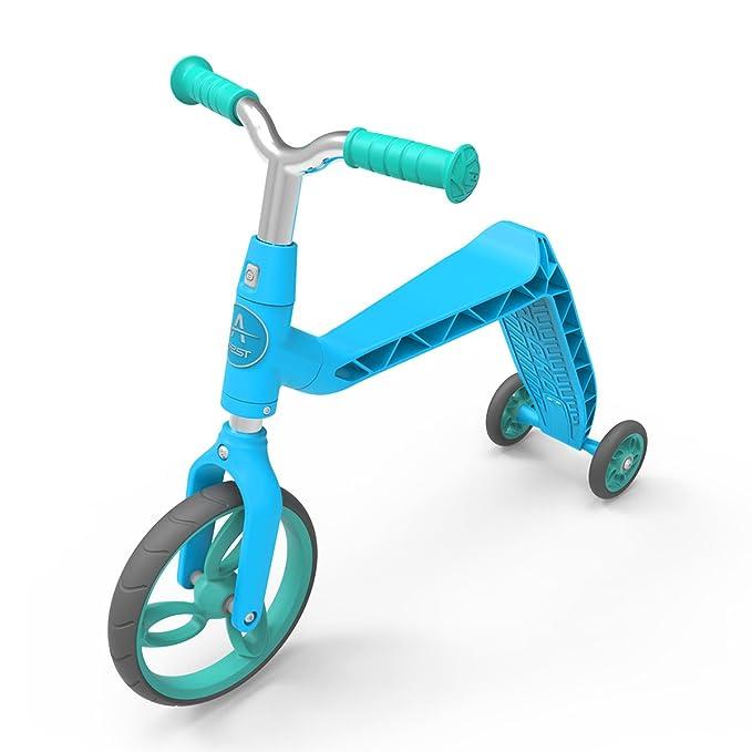 AEST Correpasillos Y Patinete 2 En 1 Bicicleta Sin Pedales Reversible Scooter 3 Ruedas niño niña 2-4 años - Color Azul: Amazon.es: Juguetes y juegos