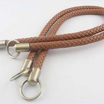 Asas de cuero sintético de ganchillo de 63,5 cm para bolso de mano, bolso, bolso, manija, reemplazo, un par (2 piezas) por lote Anti bronze hardware ...