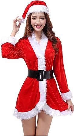 SDLRYF Disfraz De Papá Noel Traje De Navidad Los Hombres Y Mujeres ...