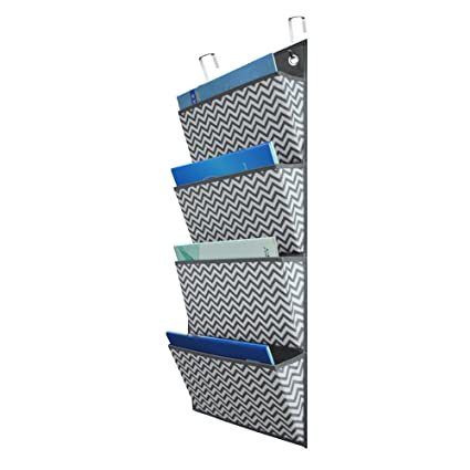 Cascading File OrganizerHanging Wall File OrganizerStorage Pocket Chart 4 Pockets with 2  sc 1 st  Amazon.com & Amazon.com : Cascading File Organizer Hanging Wall File Organizer ...