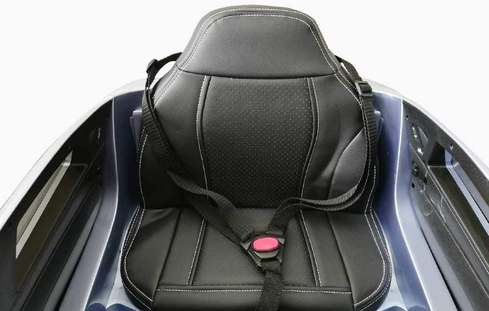 Babycar Auto per Bambini BMW x6 Un Posto con Telecomando 12 Volt Grigio Metallizzato con Sedile in Pelle