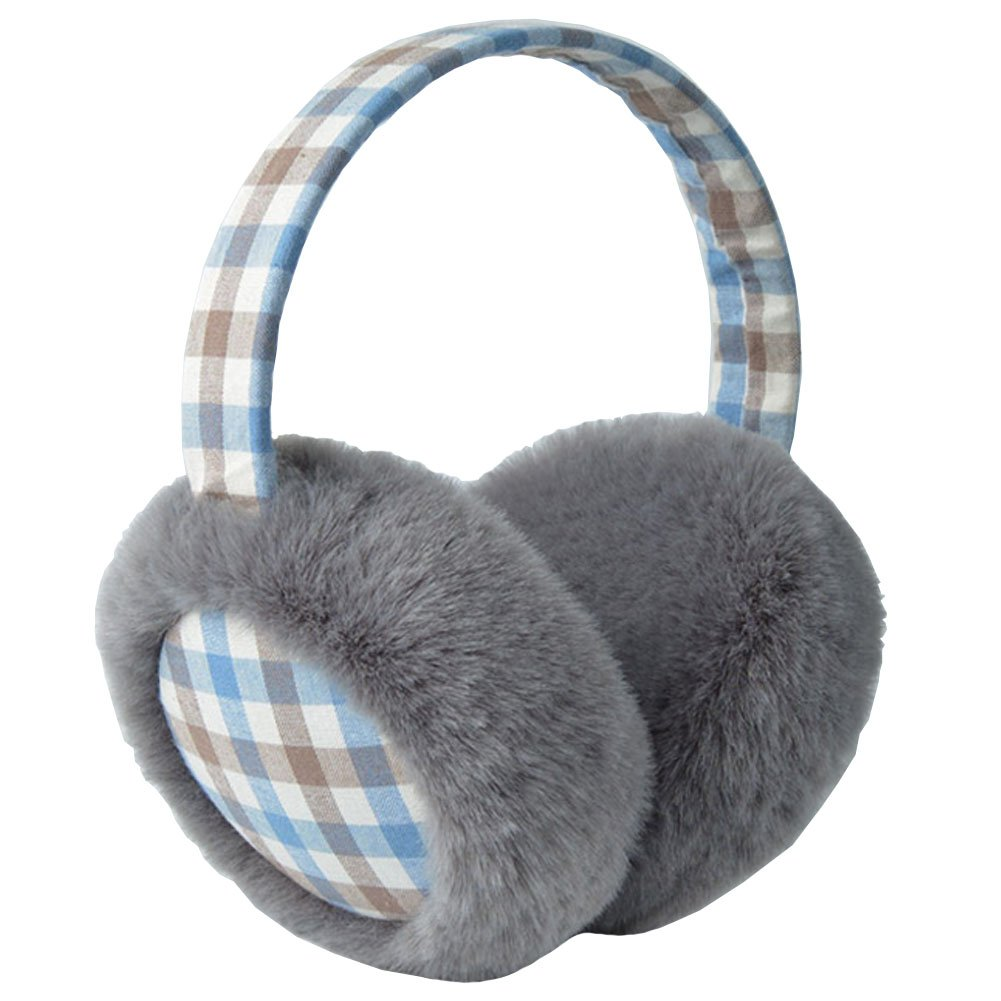 Super Comfy Cute Girls Small Plaid , Lovely Earmuffs For The Winter / Soft And Warm