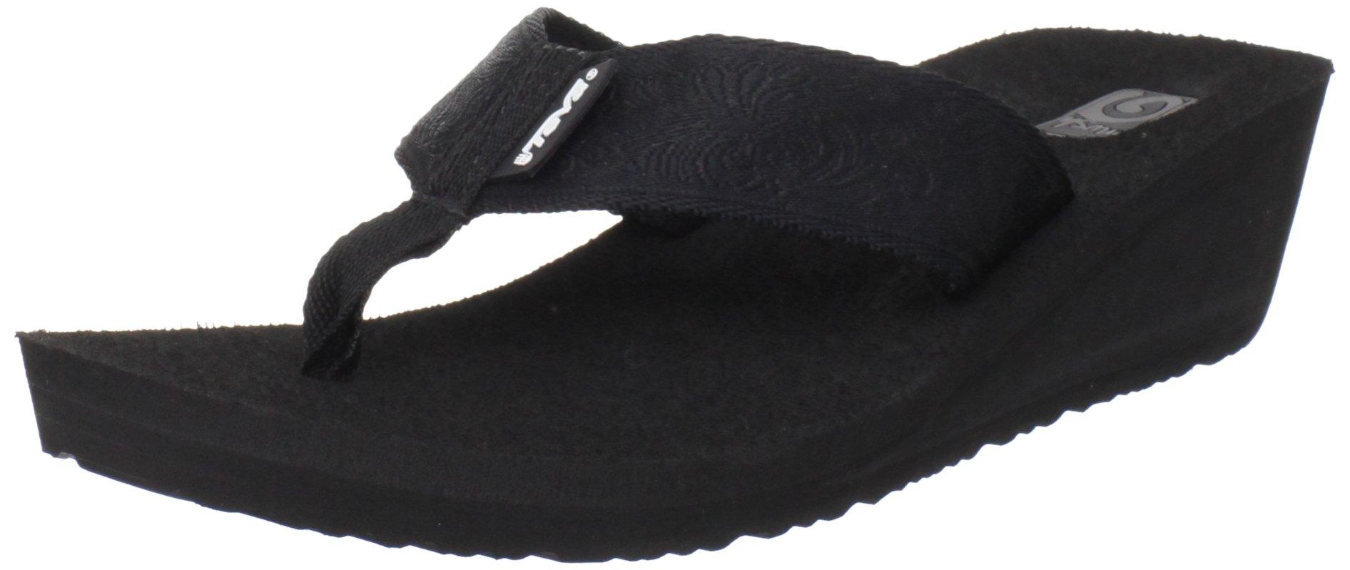 Teva Women's Mush Mandalyn Flip Flop,Motif Black,5 M US