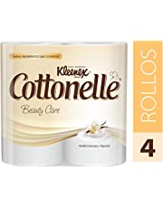 Kleenex Cottonelle Beauty, Papel Higiénico, color blanco, paquete de 4 rollos