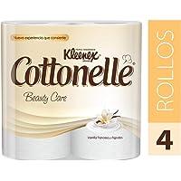 Kleenex Cottonelle Papel Higiénico, color Blanco, 4 Rollos x 180 Hojas Triples