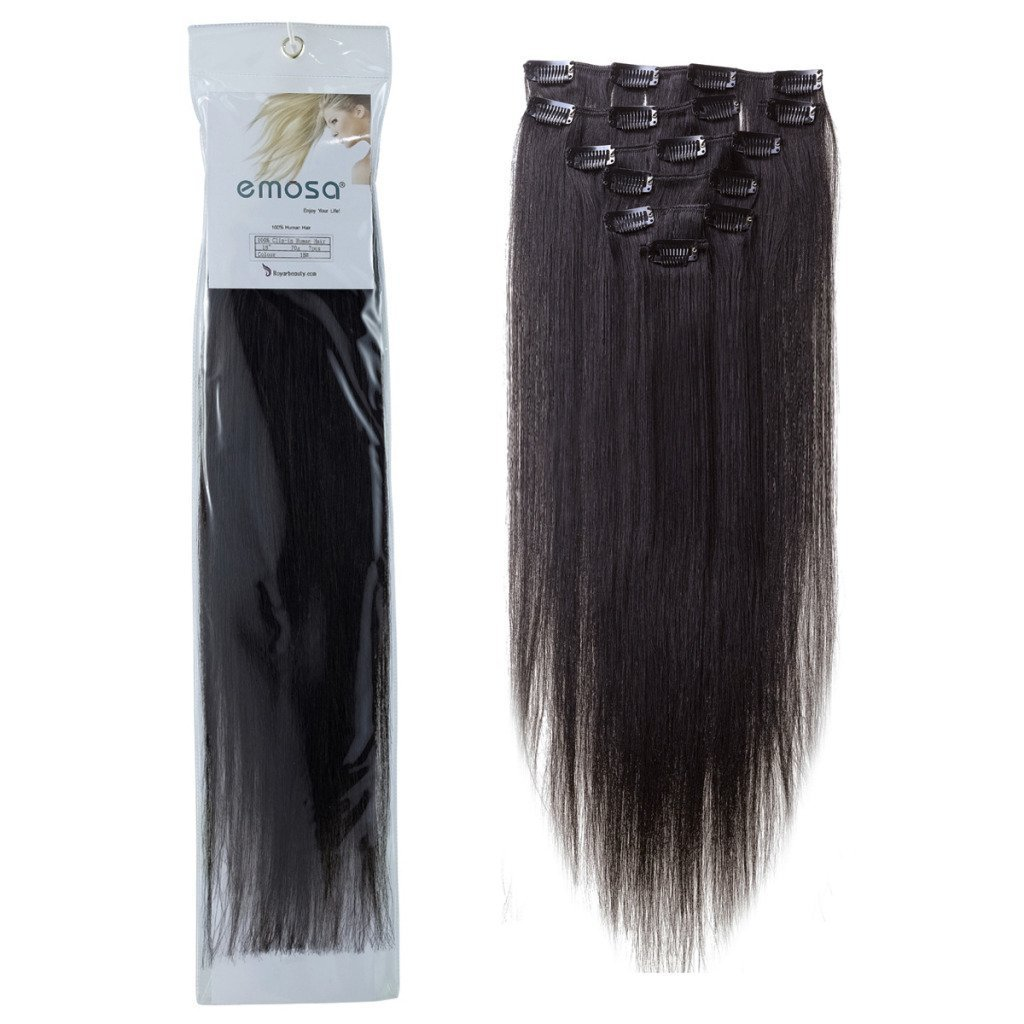Amazon 14 Silky Straight 100 Human Hair Clip On In
