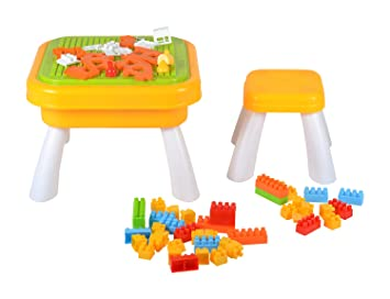 Planet Of Toys My Play Table Block And Desk Toy (188 Pcs) For Kids