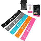 Flow Fitness Resistance Bands - Set Of Exercise Workout Loop Exercise Bands for Arms Shoulders Legs And Butt | 5 Resistance Levels Stretch Strength Bands for Working Out, Yoga, Gym, Crossfit & Physical Therapy