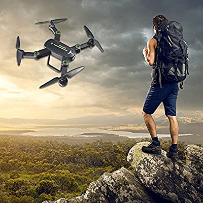 Fineser F16W Wifi FPV RC Quadcopter Drone with 720P HD Camera RTF 4 Channel 2.4GHz 6-Gyro RC Drone with Altitude Hold Function,Headless Mode , Foldable Arms and One Key Return Home from Fineser