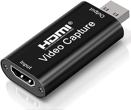 Todo para el streamer: DIWUER Capturadora de Video HDMI, 4K HDMI a USB 2.0 Convertidor Video Audio, HDMI Vídeo Game Capture 1080P 30FPS para Edite Video/Juego/Transmisión/Enseñanza en línea