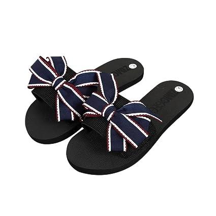 76ef7c15bdb301 ... Shoes Flat Beach Sandals Sports  Amazon.com Gotd Women Sandals Big  Bowknot Flip Flop Waterproof Platform Wedge Heels Anti-  2018 Hot Sales ...