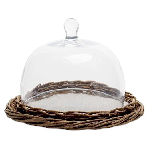 Willow Clear Glass Cheese Dome